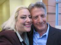 He called me Bubbala and pinched my cheeks! SKY with fellow actor, Dustin Hoffman.