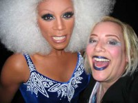 Sky with the infamous RuPaul. Now who's a bigger drag queen? Okay??