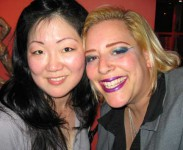 Sky and Margaret Cho. Two funny chicks backstage at The Grounds in Hollywood after a show with the Gay Mafia.