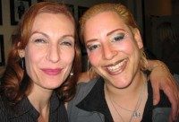 Diva chanteuse Ute Lemper backstage with SKY.